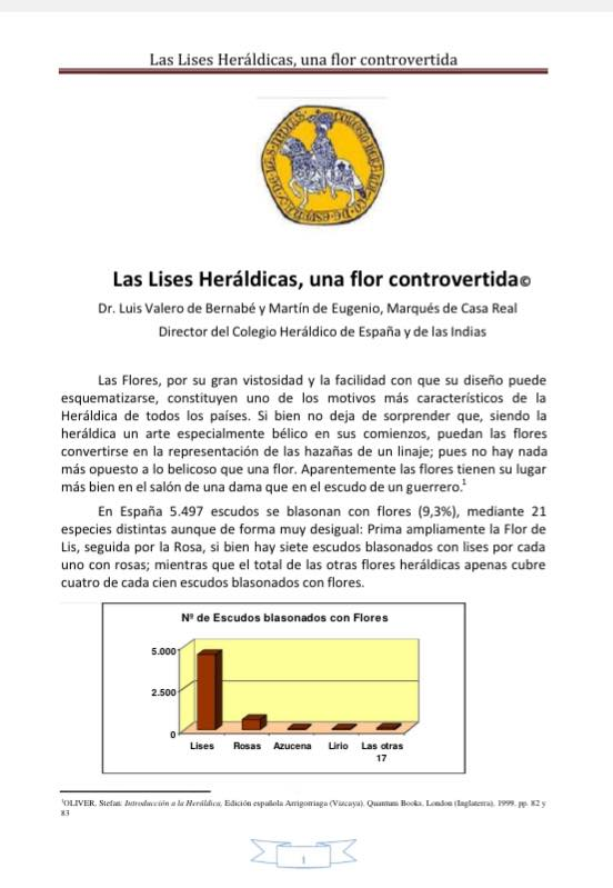 Las Lises Heráldicas, una flor controvertida.