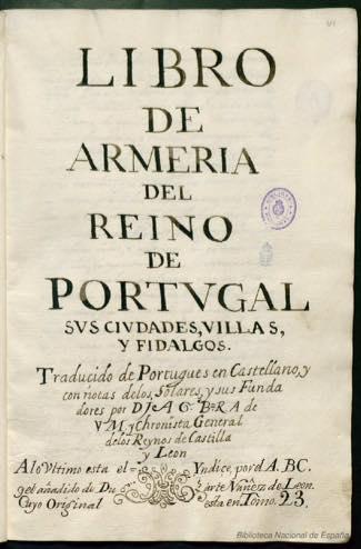 Libro de armería del Reino de Portugal